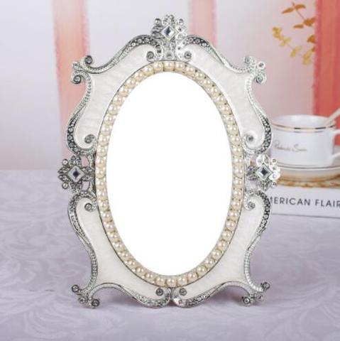princesa espelho de maquiagem mesa mesa espelho quarto wc vidro grande