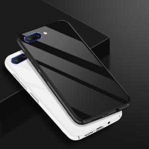 Image 2 - Honor 10 lujo Slim caja de Color sólido Coque para Huawei Honor 10 caso duro cubierta Funda para Huawei Honor10 v10 V9 caso