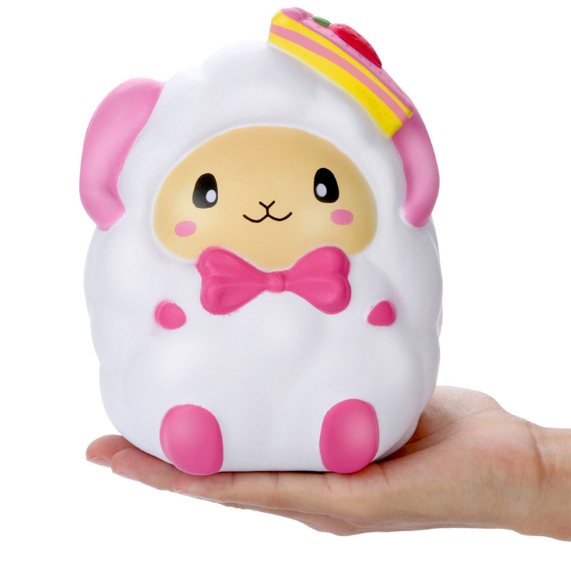 Adorable Squishies Cartoon Strawberry Sheep Slow Rising Cream Scented Stress Relief Toys Gifts Anti-stress D4