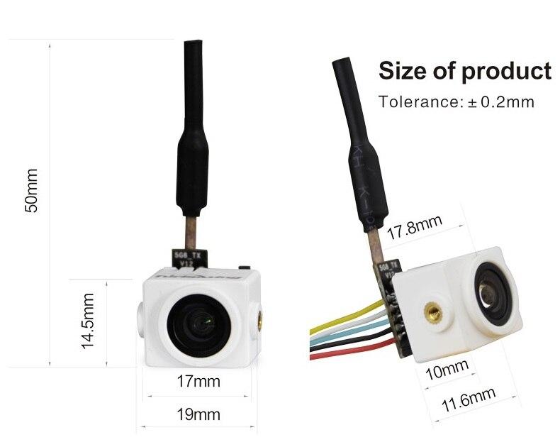 Turbowing Cyclope v2 Mini 5.8g 25 mw Sans Fil Aio Caméra Vtx Pour Fpv, 48 Fréquence, soutien Smart Audio v1 Protocole