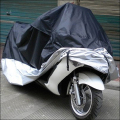 Waterproof  Rain UV Dust Sun Prevent Bask Bike Motorcycle Scooter Covers Outdoor Black and Silver Color M L XL XXL XXXL