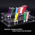 Transparent Clear Acrylic 41-hole Lipstick Rack Lip Gloss Nail Polish Cosmetics Make Up Organizer Box Case Display Holder Stand