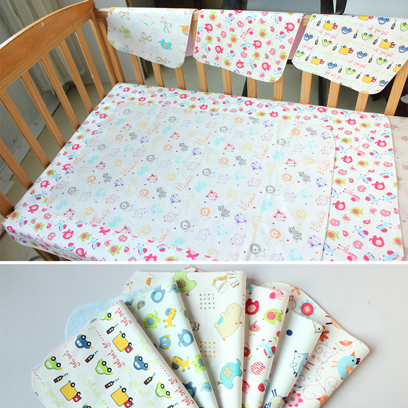 30*40cm Toddler Changing Pads Covers Reusable Soft Diaper Baby Changing Mat Bamboo Fiber Waterproof Sheet Muda Fraldas Urine Mat