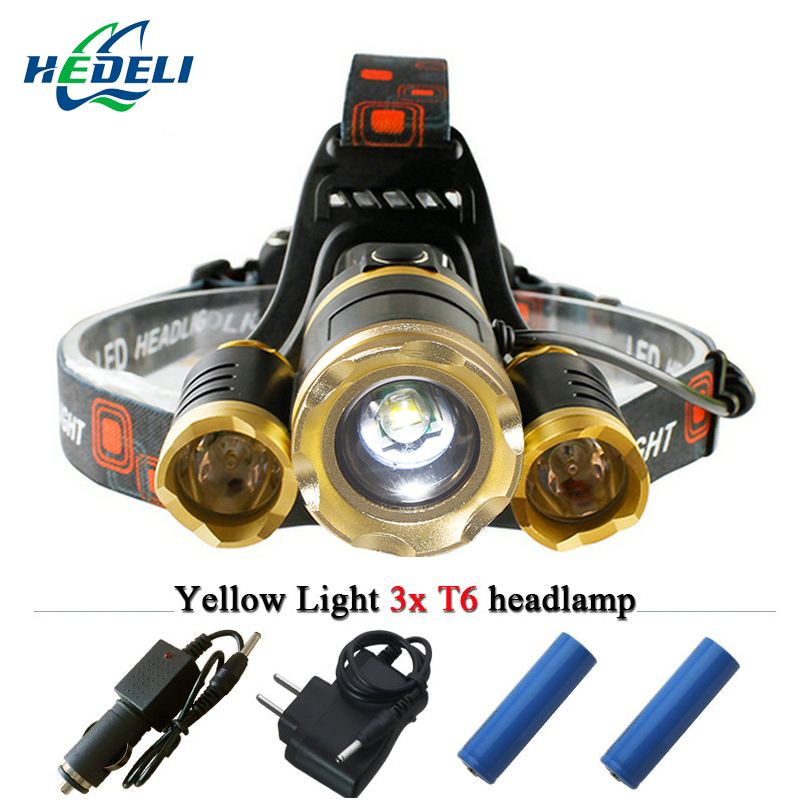 Cree xml t6 q5 led strong head light telescopic zoom 4 model fishing bicycle lighting headlights headlamp rechargeable 18650