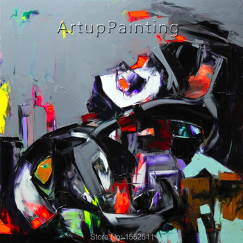 Palette knife painting portrait Palette knife Face Oil painting Impasto figure on canvas Hand painted Francoise Nielly 12-2