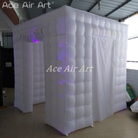 Classical style white fabric Exclusive tent inflatable photo booth closure with much lighter 5 w spotlights for Mexico