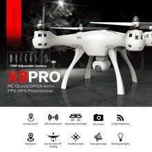 SYMA X8PRO gps Дрон на ру Quadcopter WI-FI FPV с 720 P HD Камера Регулируемый Камера rc 6 оси высота Удержание x8 pro drone RTF подарок