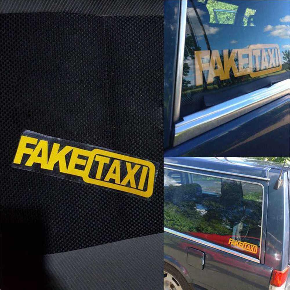 FALSO Falso Adesivo de Carro de TÁXI Táxi Sinal de Desvio Funny Car Adesivo de Vinil Decalque Decor Amarelo Forte Auto-adesivo de Carro bumper