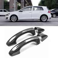 Ipoboo New Auto Exterior Carbon Fiber Made Door Handle Cover Sticker Decorations Overlay Trim For VW Golf 7 GTI 2014 16