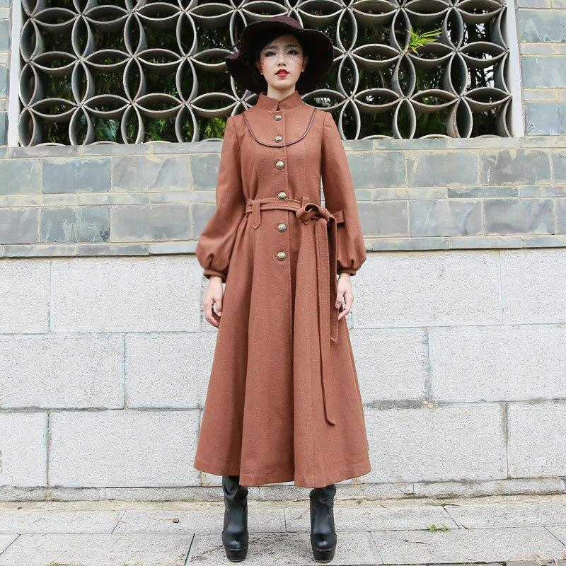 Popular Long Brown Coat-Buy Cheap Long Brown Coat lots from China ...