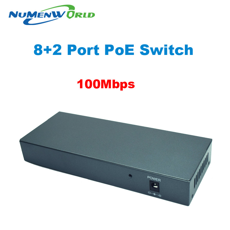 PoE switch 10 port 10/100Mbps desktop Fast Ethernet Switch Dahua for HD 720P/960P/1080P ip cameras