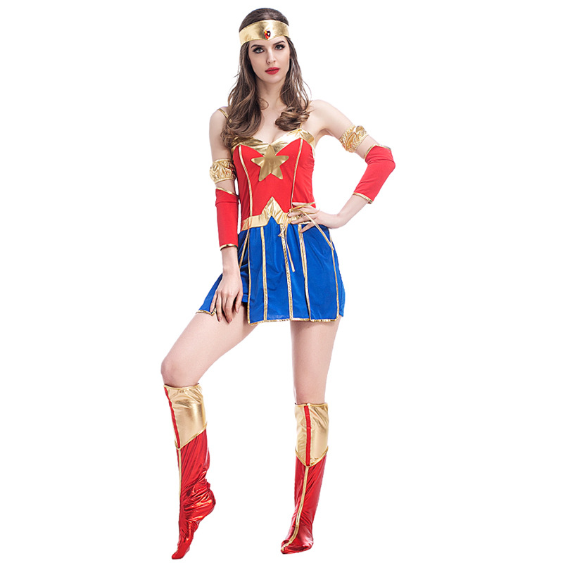 VASHEJIANG Sexy Wonder Woman զգեստները - Կարնավալային հագուստները - Լուսանկար 2