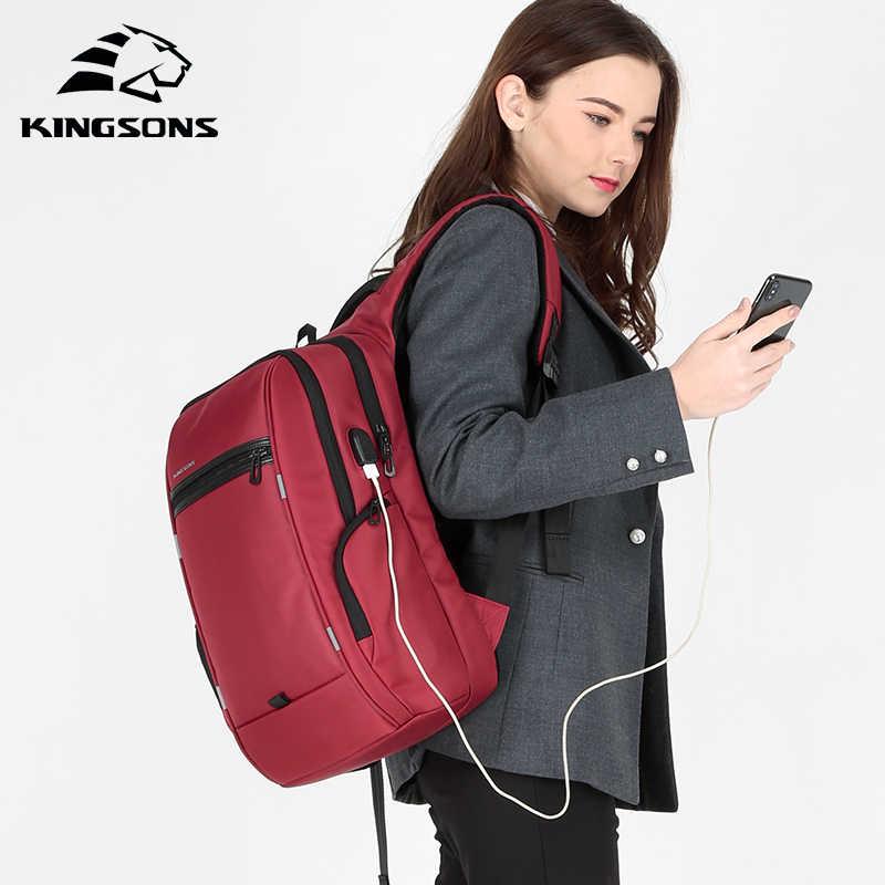 Kingsons 2019 Baru 13 15 Inch Laptop Ransel Girls Fashion Wanita Ransel Bisnis Leisure Perjalanan Mahasiswa Ransel