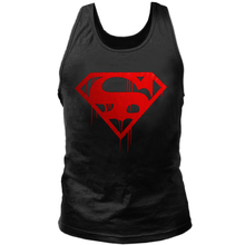 Hot Fitness Bodybuilding Men Printing Tank Tops Vintage Blood Superman Gyms Clothing Workout Clothes Sleeveless Tops Cotton Vest
