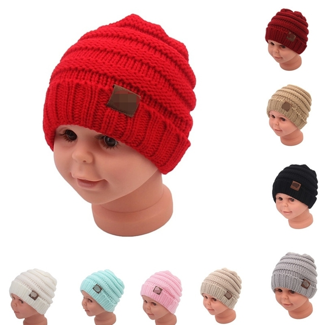 ba536b960be Winter Hats For Kids Beanie Warm Hat Knit Beanies Slouchy Hats For Girls  Cute Boys Knitted