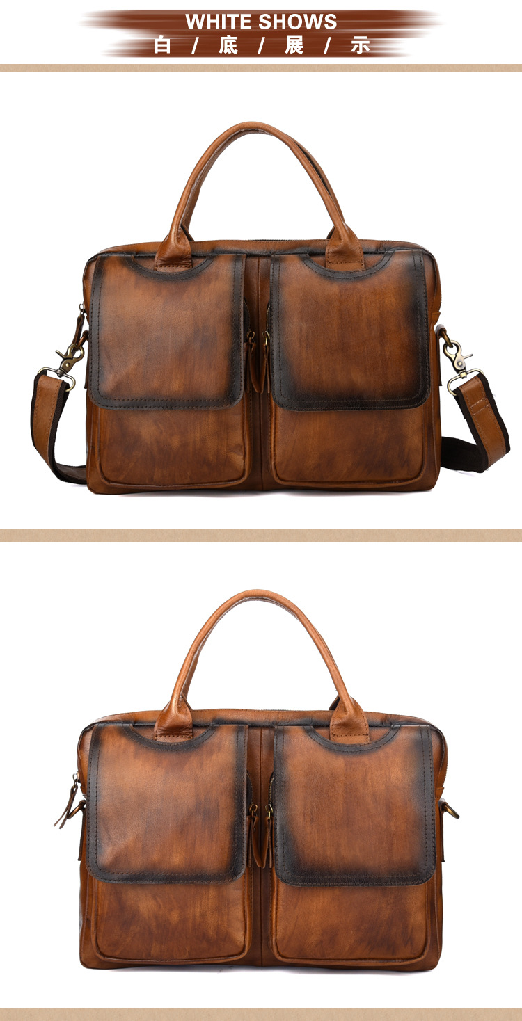 Men's Top Handle Bag Laptop Briefcase Handbag Retro Tote Bags Genuine  Leather Male Business Crossbody Messenger Shoulder Bag|tote bag|bag  genuinemessenger shoulder bag - AliExpress