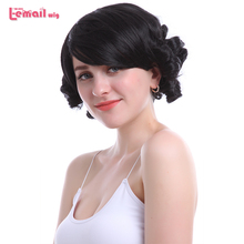 Cosplay Wigs Short Black Bobo Synthetic Hair