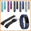 10pcs / lot New Sport Silicone Band for Fitbit Charge 2 smart bracelet strap for Charge2 bands