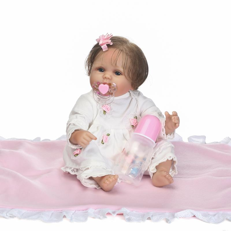 18 40cm Silicone Lifelike Bebe Reborn Soft Cotton Body Baby Doll Fashion Kids Toy Rooted Fiber Hair Best Gift for Children18 40cm Silicone Lifelike Bebe Reborn Soft Cotton Body Baby Doll Fashion Kids Toy Rooted Fiber Hair Best Gift for Children