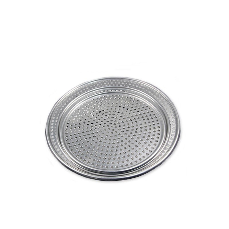 1Pcs Aluminium Kitchen Tool Pizza Pan With Removable Bottom Loose Bottom Flat Mesh Pizza Screen Oven Baking Tray