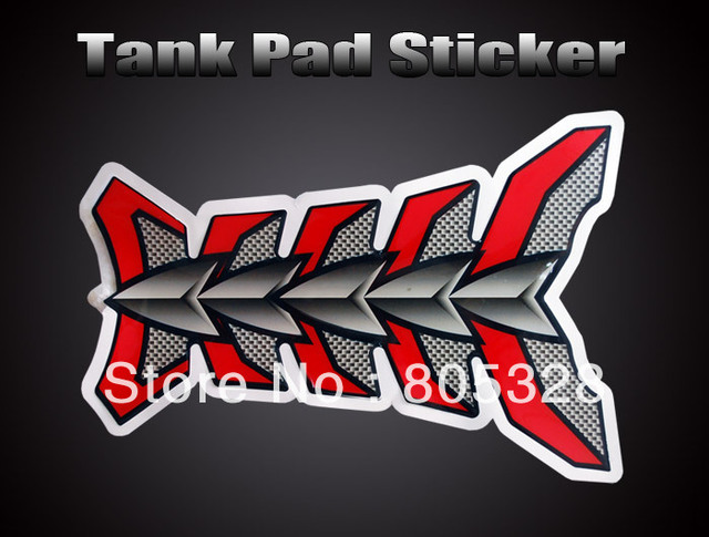 New ! Motorcycle Skeleton Tank Pad Protector Decal Sticker