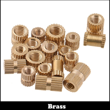 50pcs M3 M3*5*5 (ID*OD*L) Copper Injection Moulding Brass Insert Round Knurled Thumb Nut цена и фото