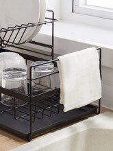 Creative drain rack double-layer drying tableware dishes dish rack rack kitchen storage box storage rack double lock hanging rack ldr2001w g r kitchen shelf products containing dishes left to put dish rack
