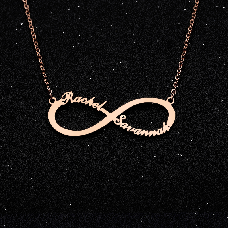 Personalized Necklaces Custom Name Necklace Jewelry for Women Gold Silver Infinity Pendant Stainless Steel Friendship Necklace in Chain Necklaces from Jewelry Accessories