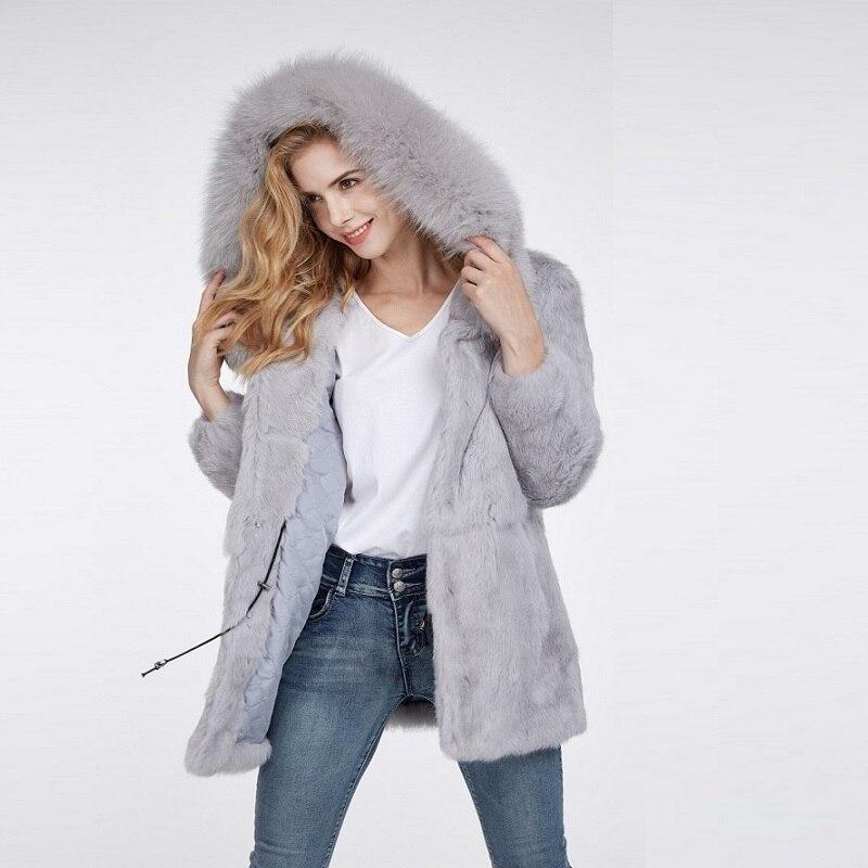 Fur coat new winter woman coats 2018 fashion plus size S-10XL jacket warm hot famale jaket fur long hooded