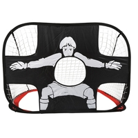 From USA Shiping 100 * 75 * 75CM Adult Football Goals Portable Folding Children Kid Football Goal Door Set Football Gate Toys Fo