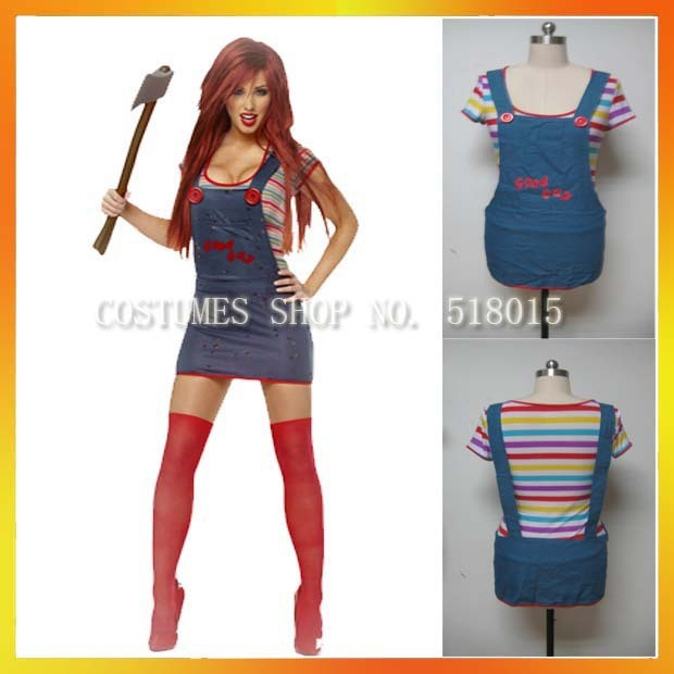 One Piece Halloween Set To Return To Tokyo One Piece Tower: 3 Sizes!Adult Female Halloween Onepiece Chucky Costume Set
