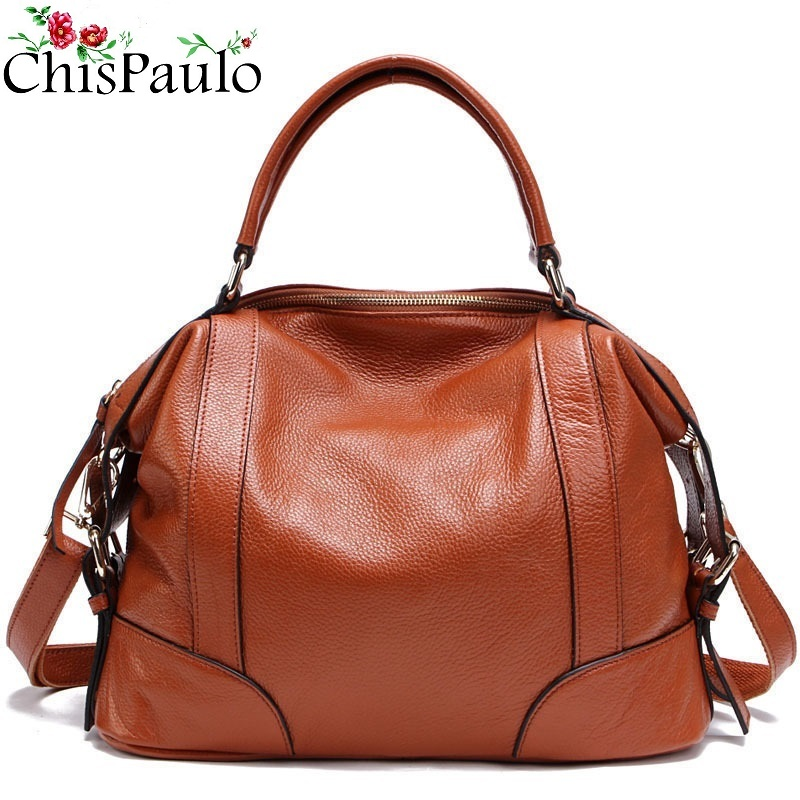 CHISPAULO Women Bags Brand 2017 Designer Handbags High Quality Cowhide Women's Genuine Leather Handbags Women Messenger Bag T235 chispaulo 2017 designer brand cowhide women genuine leather handbag fashion cacual women s shouldercrossbody messenger bags x12