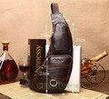 Men's Fashion Vintage Genuine Leather Travel Riding Motorcycle Shoulder Messenger Sling Chest Bag