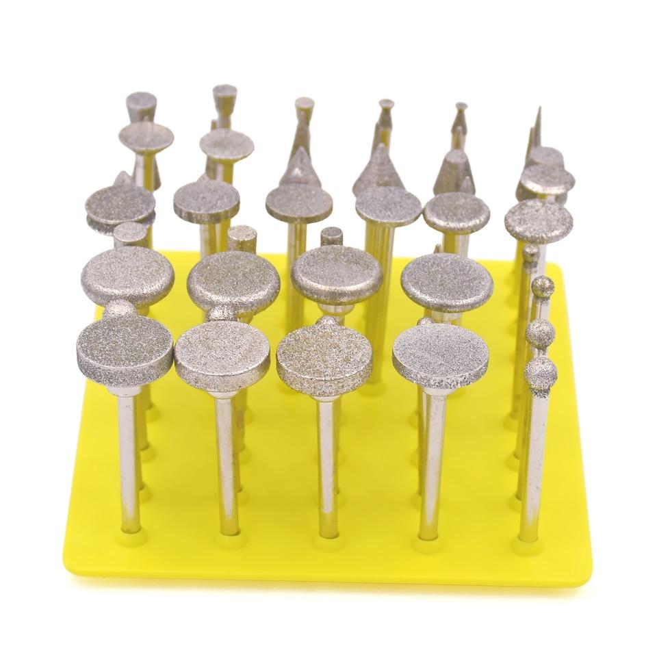 50 sztuk Szlifowanie Diamentowe Ostrza Zamontowane Punkty Obrotowe - Narzędzia ścierne - Zdjęcie 1