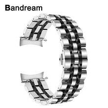 Bandream صفر الفجوة الفولاذ المقاوم للصدأ حزام الساعات لسامسونج غالاكسي ساعة 46 مللي متر SM R800 جير S3 استبدال حزام المعصم الفرقة سوار