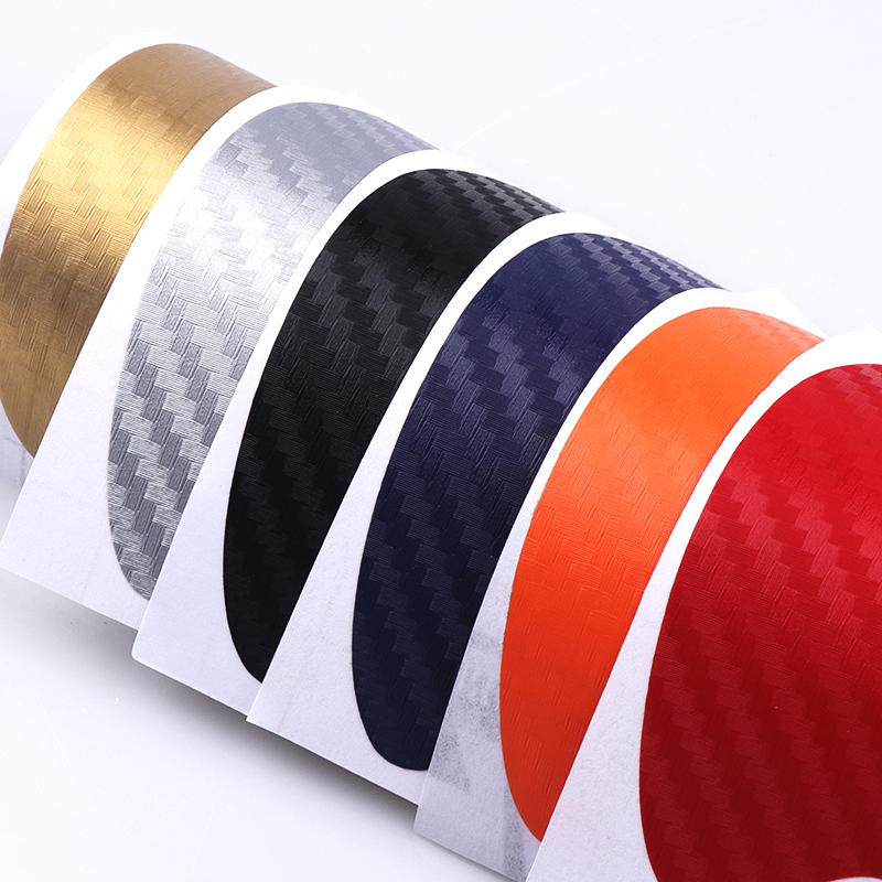 Image 5 - 4pcs Carbon Fibre Door Plate Scuff Protection Sticker Door Sill Protector Stickers for Lada Niva Kalina Priora Granta Largus Vaz-in Car Stickers from Automobiles & Motorcycles