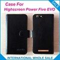 Hot!! 2017 poder cinco evo highscreen case, 6 cores de alta qualidade de couro exclusivo case para highscreen poder cinco evo rastreamento