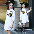White Blouses For Girls Clothes Cartoon Bees Girls Shirts Long Sleeve Cotton Kids Dresses For Girls Tops 2 4 6 8 10 11 12 Years