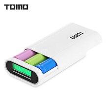 Томо M3 Smart Мощность Зарядное устройство C3 X 18650 литий-ионный Батарея 5 В 2A Мощность Bank Дело Портативный DIY Запасные Аккумуляторы для телефонов коробка Зарядное устройство для 18650 Батарея