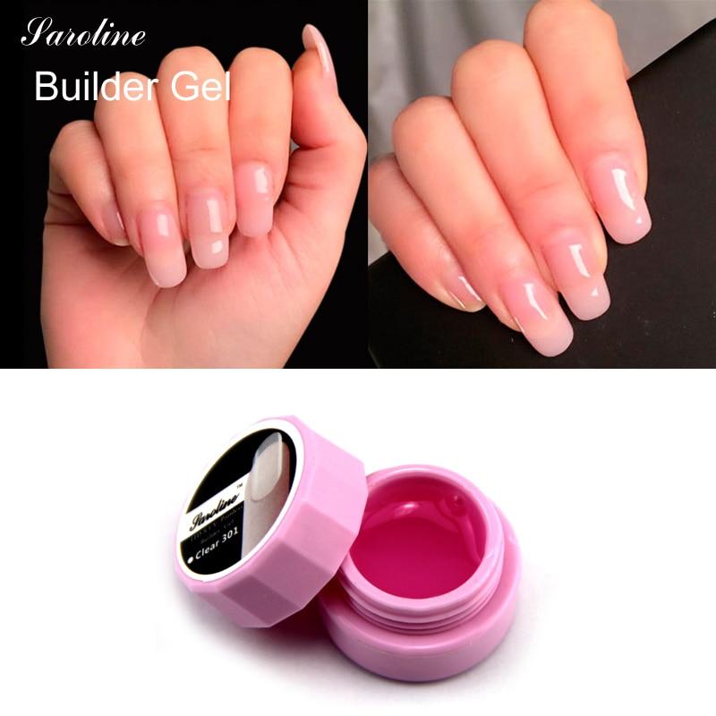Pinkish White Nail Polish: Saroline Extension Pink White Clear UV LED Builder Gel