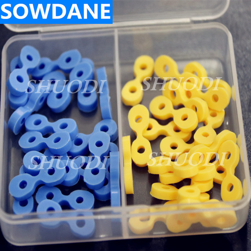 Dental Oral Care Tooth Seperator Autoclavable Elastic Rubber Fixing Wedges Wedge Matrix Matrices 40 Pcs/box
