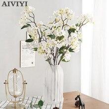 Künstliche Apple Blossom Pflanzen Gefälschte Blumen Dekorative Seide Blume Flores DIY Hochzeit Home Party Dekoration