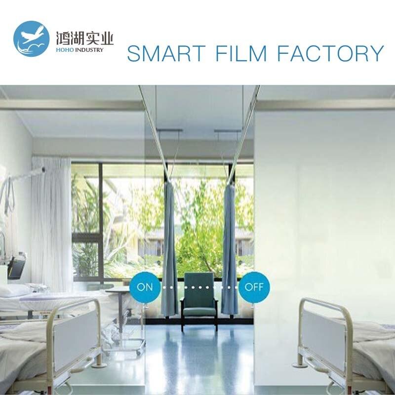 Film PDLC intelligent 1345X1460mm blanc à Opaque Film de verre commutable Film teinte avec alimentation électrique 50 w avec télécommande