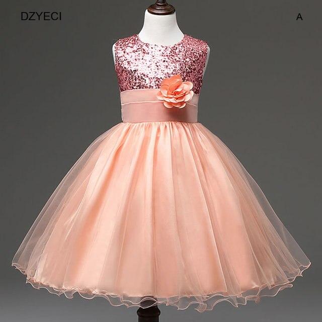 5bd7515e2dc38 Robe de demoiselle d honneur pour enfant Deguisement paillettes dentelle  Costume princesse enfant ado carnaval