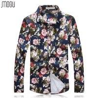 MOGU Long Sleeve Casual Shirt Men 2017 New Arrival Fashion High Quality Men S Floral Print