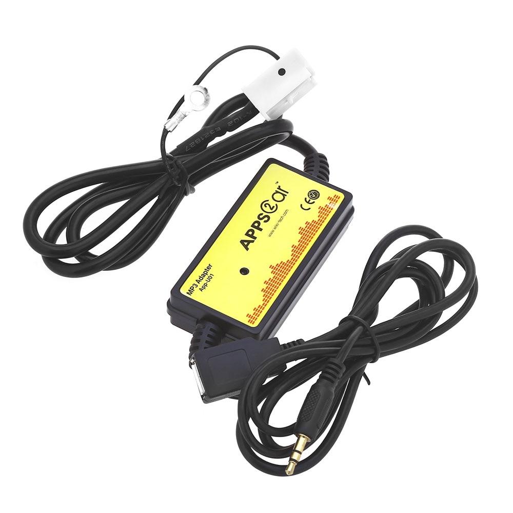Auto MP3 Audio Interface AUX SD USB Datenkabel 12 P Verbinden CD Adapter Cd-wechsler-unterstützung SSD/SHSD/MMC Karte für Audi/VW/Skoda