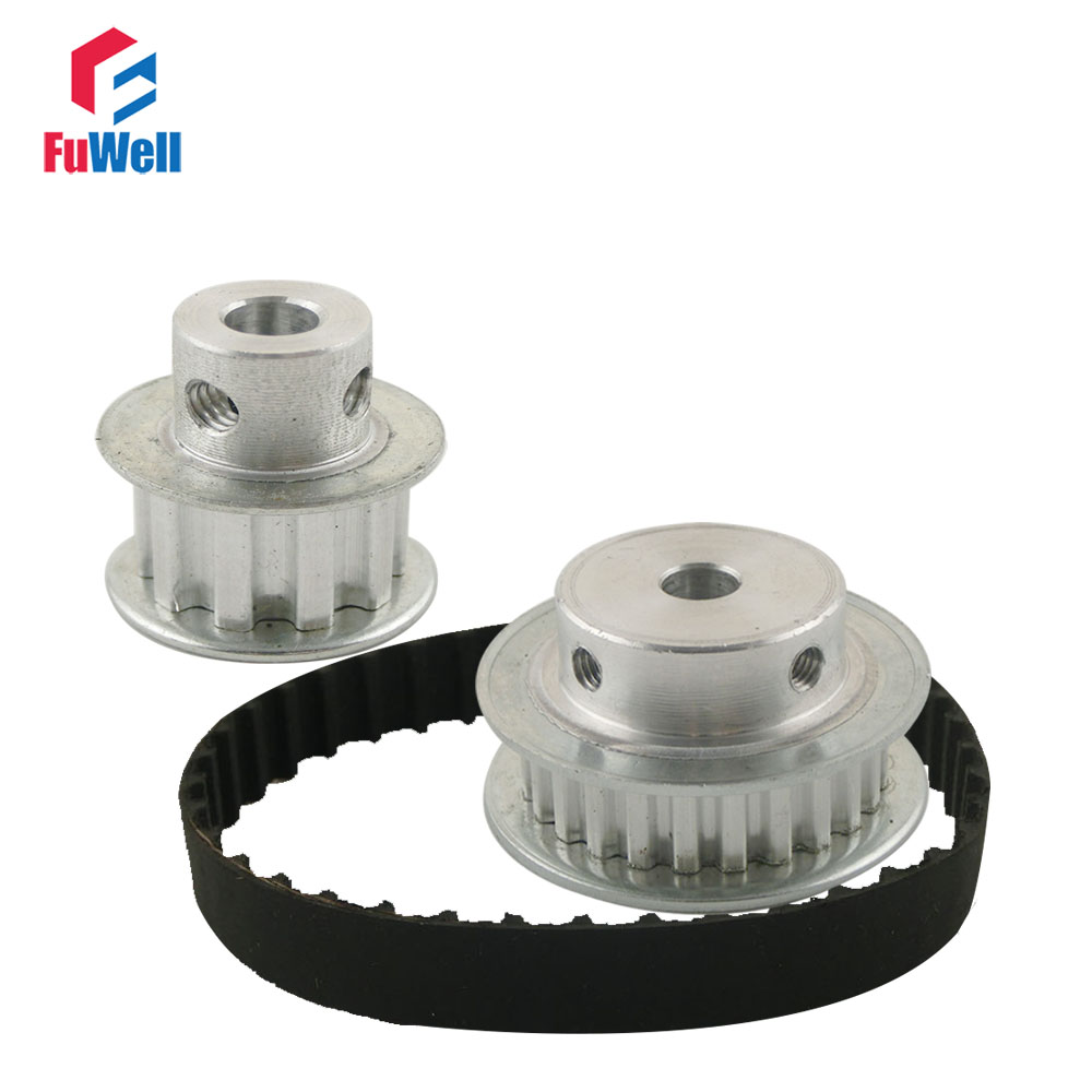 Timing Belt Pulley XL Reduction 1:3/3:1 10T 30T Shaft Center Distance 80mm 104XL Belt Gear Kit Ratio Timing Belt Pulley Set