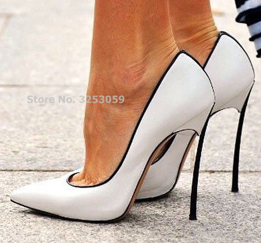 ALMUDENA Hot Selling Patchwork Dress Shoes 12cm High Heel Metal Heels Wedding Pumps Banquet Party Shoes Color Block Slip-on Pump
