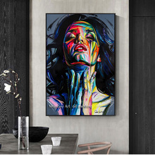 High quality Hand painted Street Graffiti Canvas painting Wall Art Abstract Pop Girls Painting art picture gift