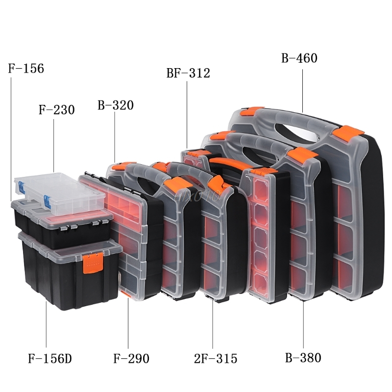 Plastic Carry Tool Storage Case Spanner Screwdriver Parts Hardware Organizer Box F-230/290/156D/156 2F-315 BF-312 B-460/380/320